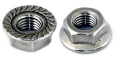 HEX FLANGE NUTS SERRATED COARSE THREAD