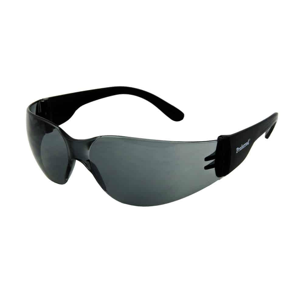 Proferred 100 Smoke Lens As Safety Glasses Ansi Z87 1