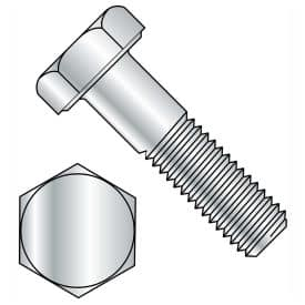 HEX CAP SCREWS 8.8 COARSE MED. CARBON ZINC CR+3 (PARTIAL THREAD) DIN931 / ISO4014